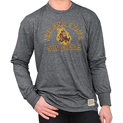 (Elite Fan Shop Arizona State Sun Devils Retro Long Sleeve Tshirt Charcoal - L)
