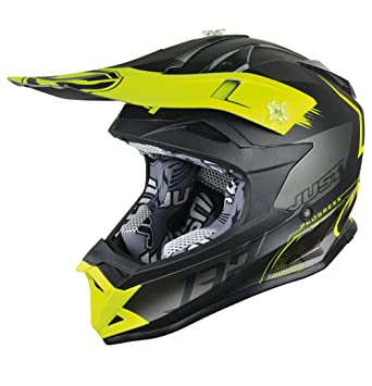 JUST1 casco J32 Pro Kick, amarillo/negro/titanio, tamaño XL