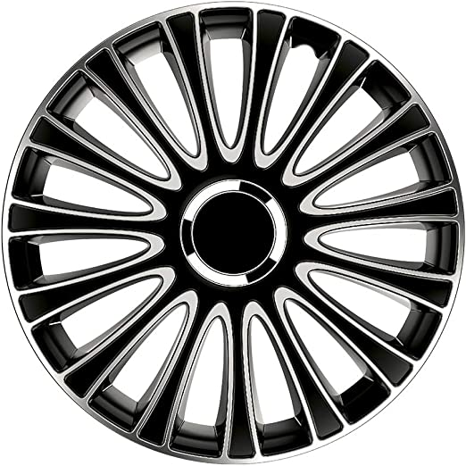Petex Lemans Pro 2 Fach Lackiert Material Abs Farbe Schwarz 16 Zoll 4 X Universal Radzierblenden Radkappen Auto