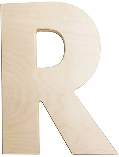 "Whitewashed Wood Letter  /""T/"" 5 inches Tall Free Standing 1 inch Thick"
