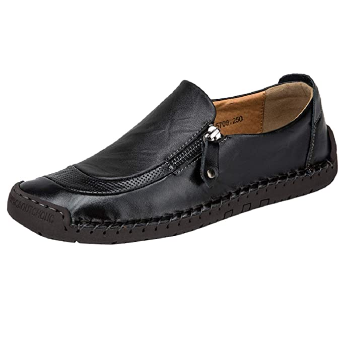 84b8dbbe33bc7 Amazon.com: Men's Stitch Casual Shoes Leather Slip On Driving Shoes ...