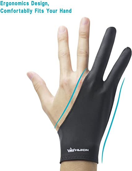 Two Finger Anti-fouling Glove For Artist Drawing /& Pen Graphic Tablet PaRKUS