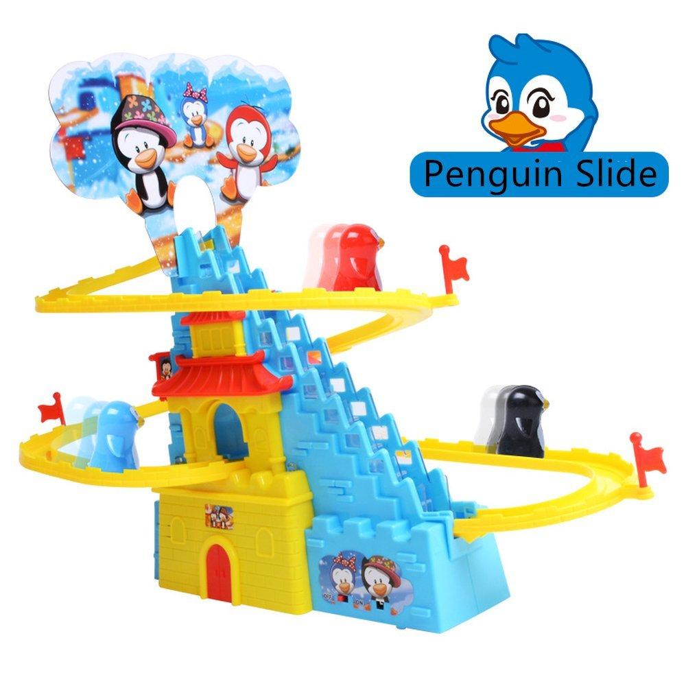 Aminiture Fun Playful Penguin Slide Race Set (Penguin Race)
