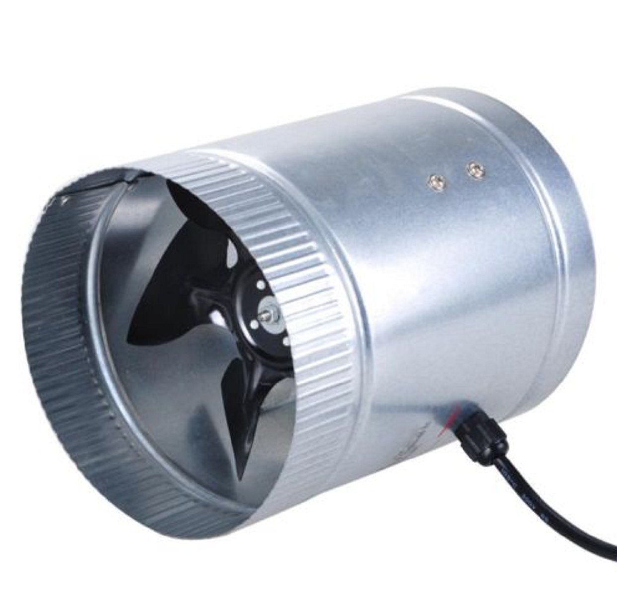 6 Inch Fan Duct Inline 260CFM Booster Exhaust Cooling Air System PC Blower Aluminum Blade Tool Cooler