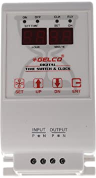 Gelco DTS-502 Plastic Digital Time Switch and Clock (White) Clocks at amazon