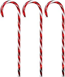 Home Accents Holiday 27 in. Lighted Candy Canes (Set of 3)