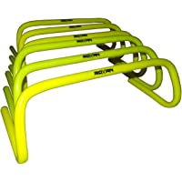 Roxan agility hurdle parrot green color 6,9,12 inch set of 6  agility hurdles for field training and speed coordination pack of 6   agility training hurdles for speed training set of 6 durable and water proof  agility hurdle/track and field hurdle/speed jumping agility hurdle set of 6,parrot green color