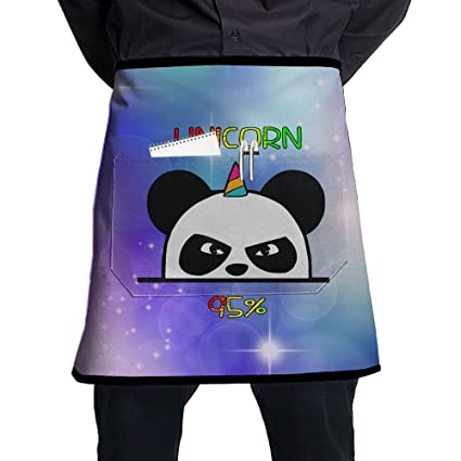 Amazon.com: Unicorn Ninja Panda Adjustable Apron With Pocket ...