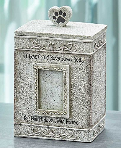 The Lakeside Collection Sentimental Pet Urns- Gray