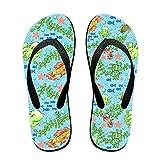 Couple Flip Flops Fish Ocean Animals Print Chic Sandals Slipper Rubber Non-Slip House Thong Slippers