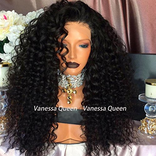 [Vanessa Queen Synthetic Lace Front Wig Kinky Curly 10%Human Hair+90%Heat Resistant Fiber Wig Natural Color With Baby Hair For] (Cheap Color Wigs)