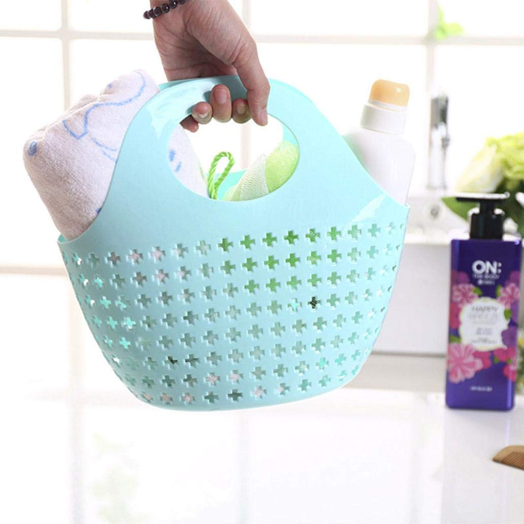 LiPing 10.6×5.5×10.6in Storage Fashion Plastic Shower Basket Rag ...