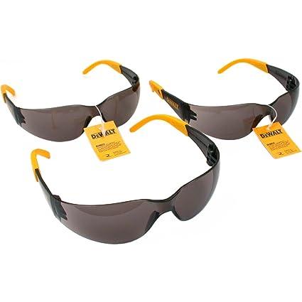 Set Lens 3 Pair Smoke Glasses Protector Safety Dewalt pzMUVS