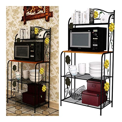 Kitchen Baker's Rack Utility Microwave Oven Stand Storage Cart Workstation Shelf by Unknown