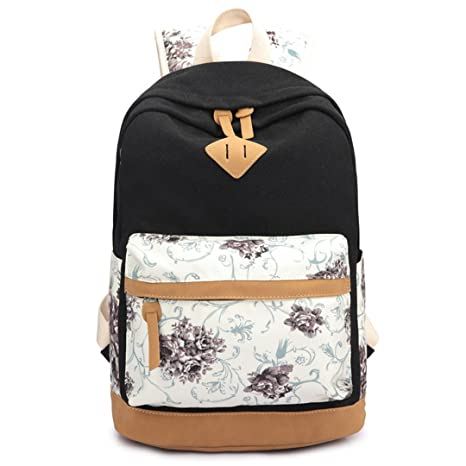 SHUB Canvas Floral Printing Satchel Rucksack Backpacks School Bags For Teenage Girls Women Backpack Mochila Escolar