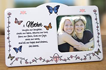 mom frame butterfly themed frame with a loving mother saying mother daughter - Mom Picture Frames