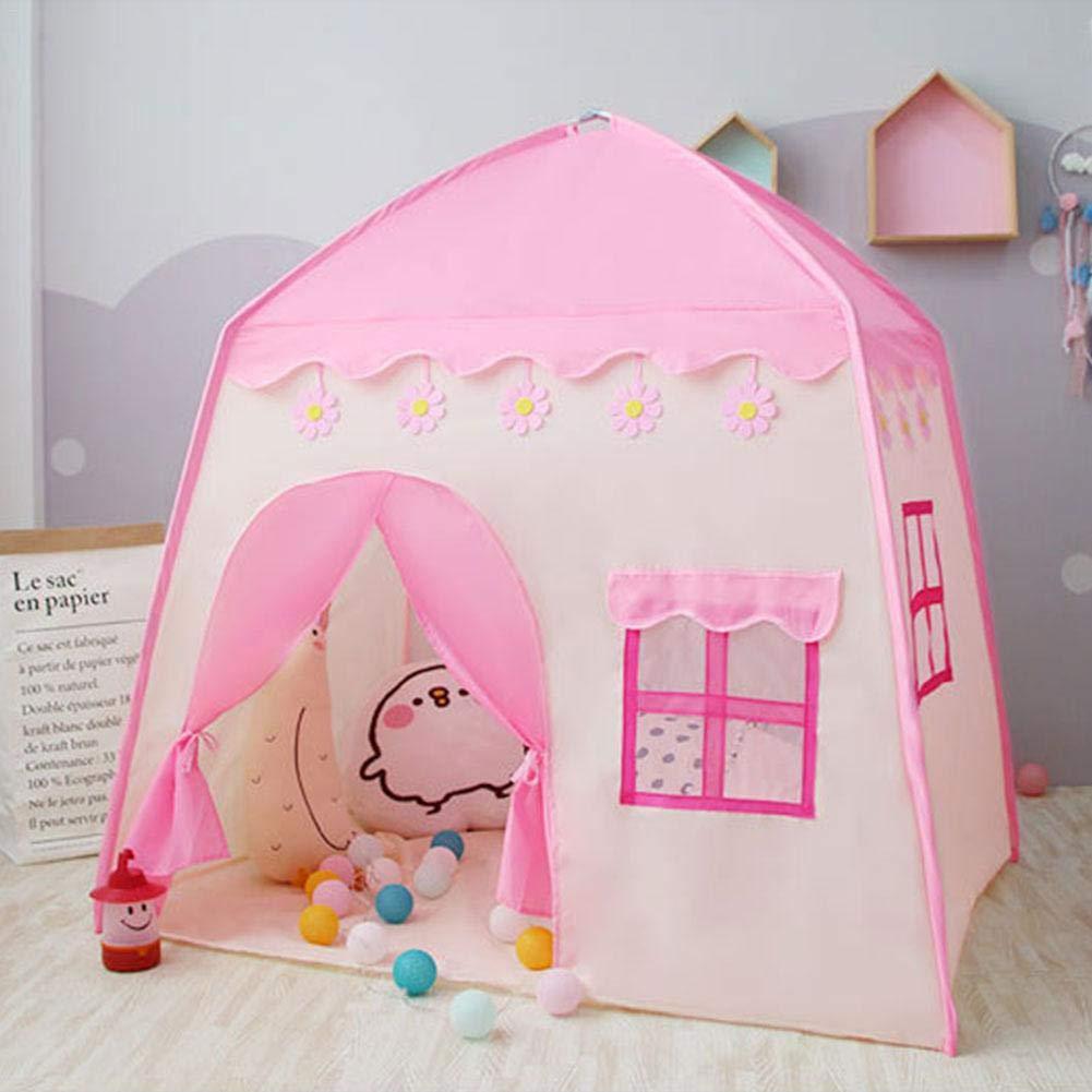 MRlegendary Castillo De La Princesa Tienda De Campa/ña para Ni/ños Grandes Casa De Juego Princess Tent Girls Casa De Juegos Grande Kids Castle Play Tienda De Campa/ña Carpa con 51.18 37.4 51.18i