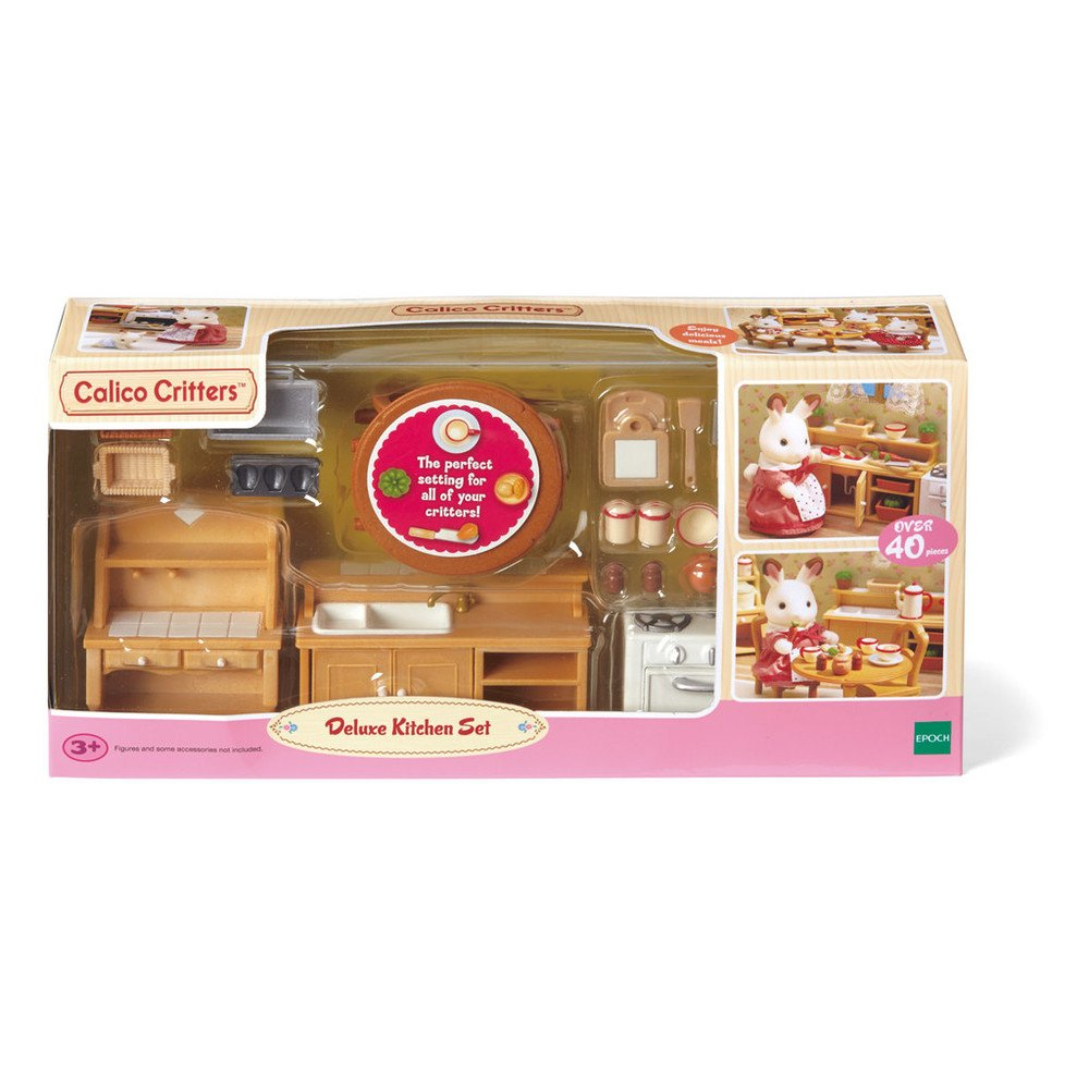 Amazon.com: Calico Critters Deluxe Kitchen Set: Toys & Games