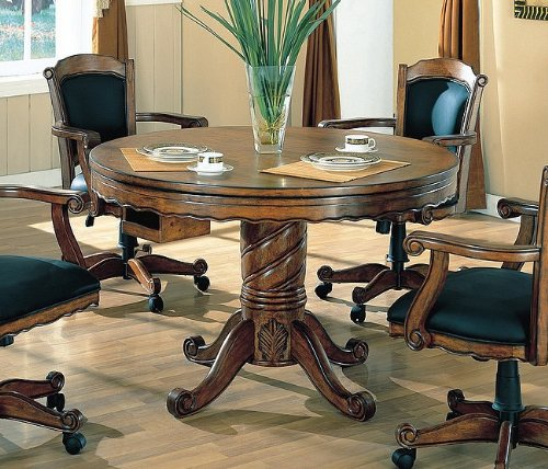 "Coaster Turk Collection 100871 48"" 3-in-1 Game Table with Ro"