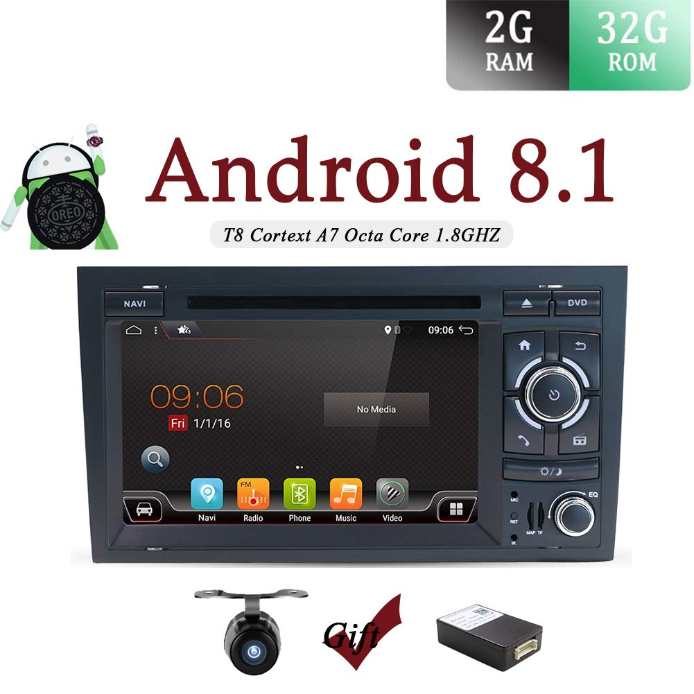 Amazon com: Android 7 1 Double Din Car Stereo Audi A4(2003-2011) CD
