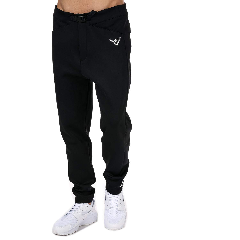 adidas Originals Mens White Mountaineering Track Pants in Black