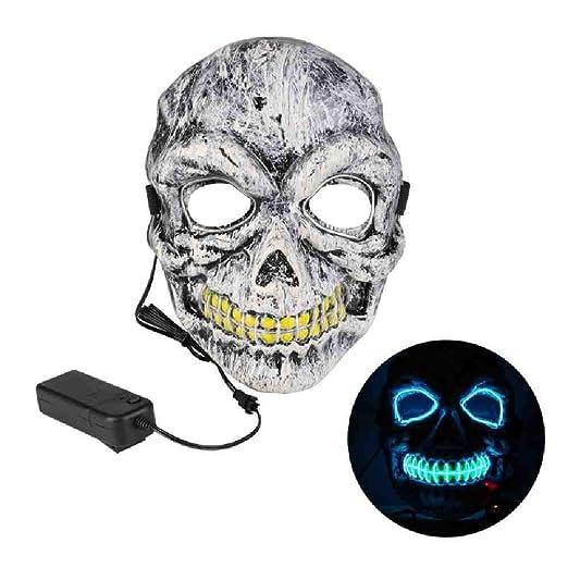 PQNVN Led Máscaras de Fiesta de Halloween Máscaras de Disfraces ...