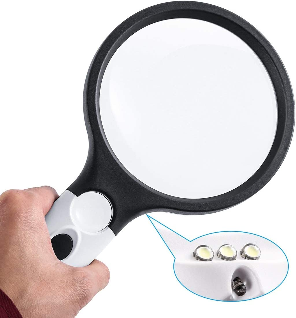 LED Hand Held Illuminated Magnifier-1.4-12X//44D