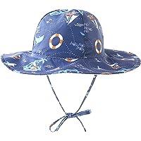 Sombrero Verano Niña, Reversible Suave y liviano Viaje Sombrero para el Sol Algodón Gorra de protección Solar para el…