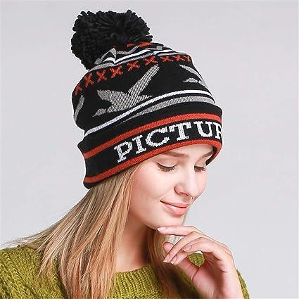 Amazon.com  RGUU Winter Women Casual Beanies Bonnet with Top Ball ... 2bd4bf7cf9b