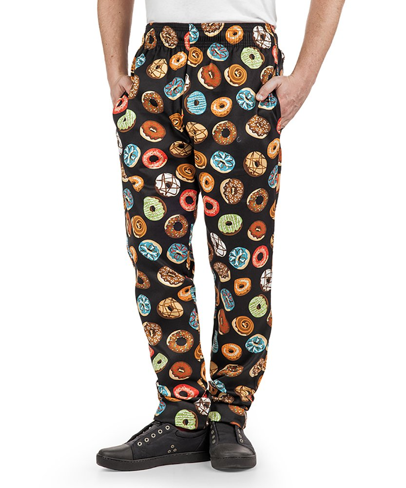 Men's Donut Print Chef Pant (XS-3X) (Medium)