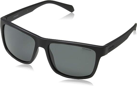 Polaroid PLD 2058/S M9 003 55 Gafas de sol, Negro (Matt Black/Grey Grey), Hombre