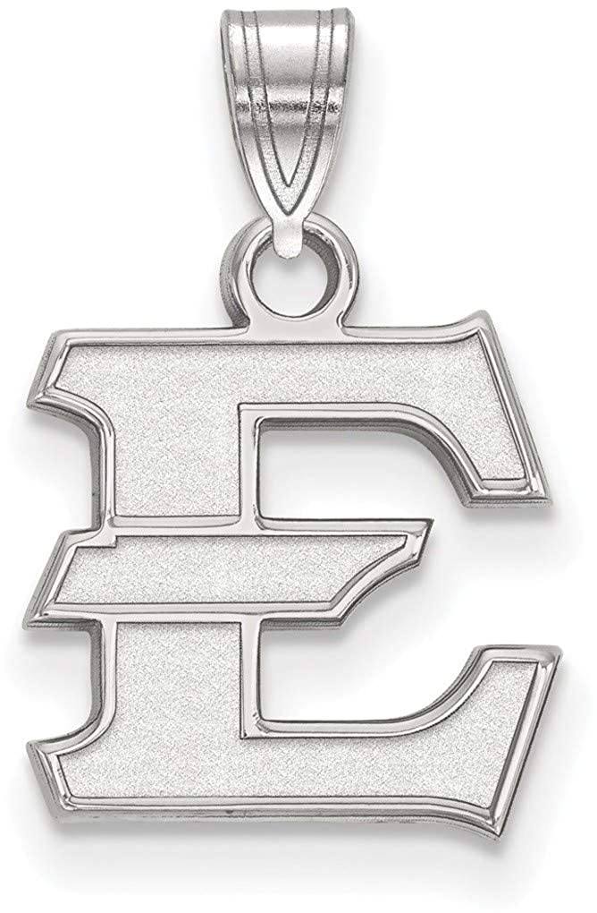 Sterling Silver East Tennessee State Small Pendant by LogoArt