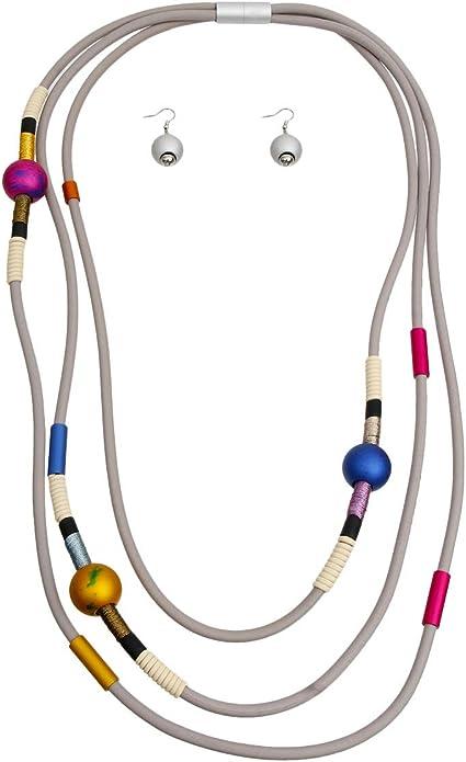 ChiqueTrendz Rubber Long Necklace Set