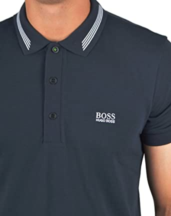 c04133d0 Image Unavailable. Image not available for. Color: Hugo Boss Boss Men's  Paule 50292195 410 S/S Polo Shirt Navy ...