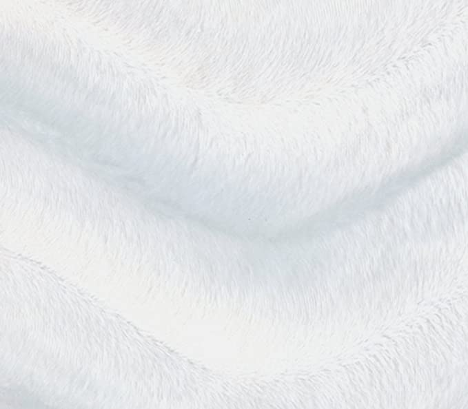 Felpa Tela de piel sintética de lujo corto material Estrellas Blanco