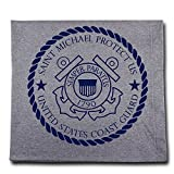 The Catholic Company United States Coast Guard St. Michael Sweatshirt Blanket 50'' x 60'' Grey Exclusive Design