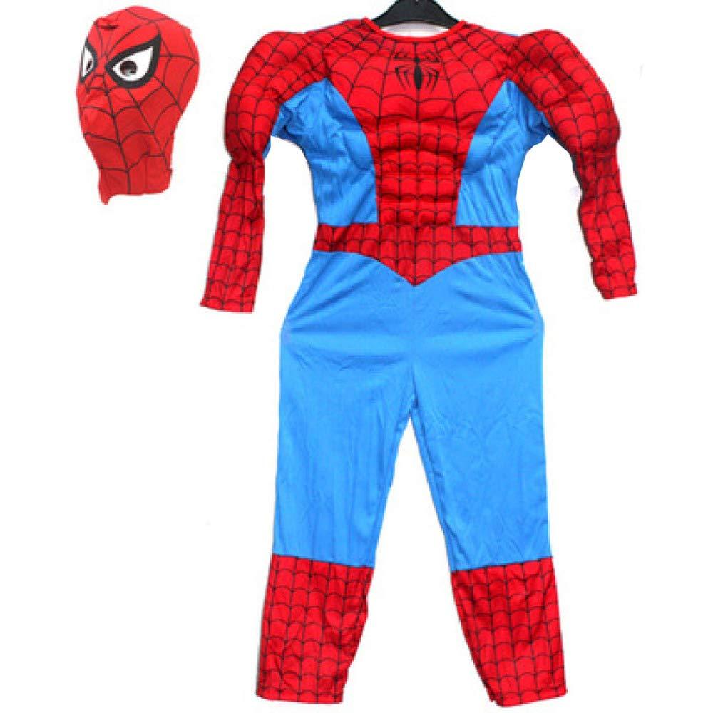 C 100cm Shuang Yu Zou Costume Spider-Man pour Enfants VêteHommests Spider-Man des Muscles Extraordinaires De Spider-Man