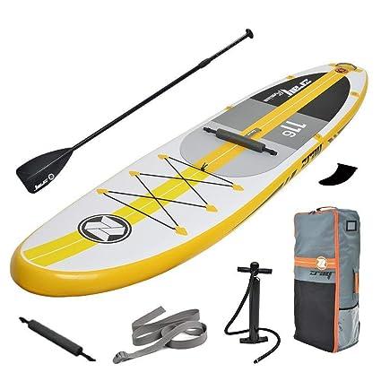 Kayaks hinchables Tabla de Paddle Surf Hinchable Kit, Bomba de Aire Sup con manómetro,