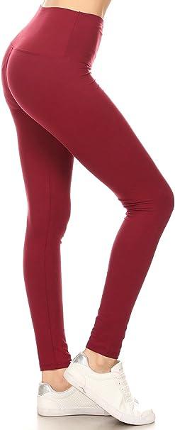 Leggings Depot High Waisted Solid Yoga Leggings