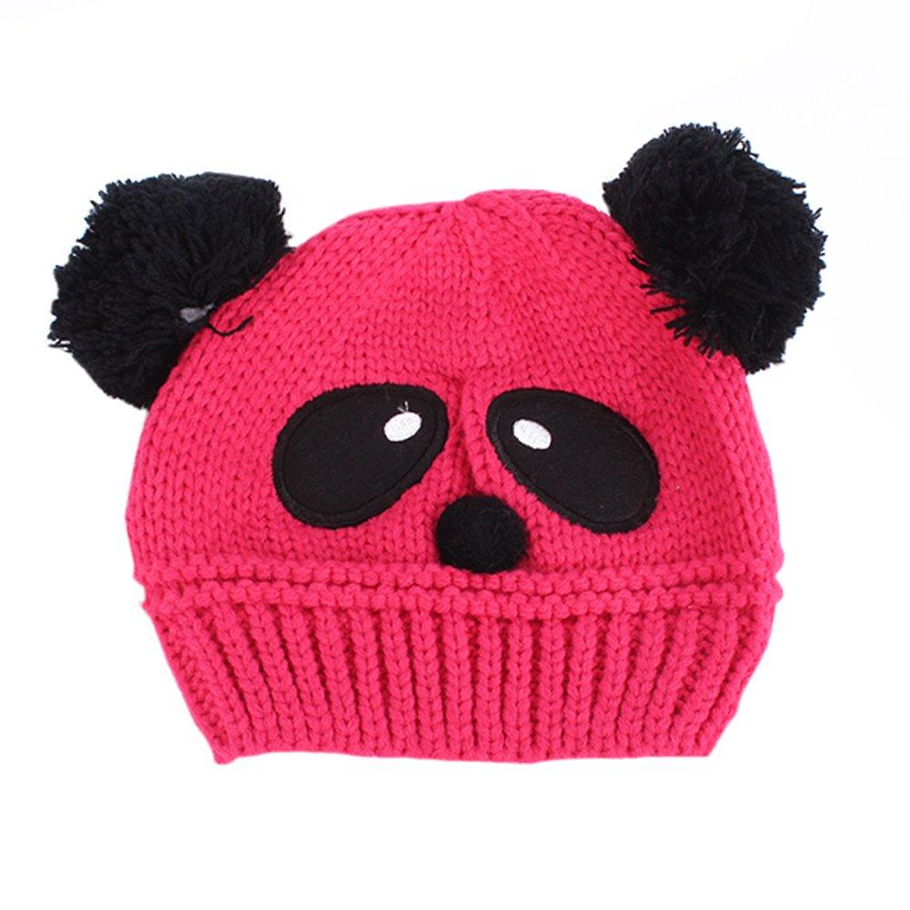 ESHOO Bébé Enfant Bonnet Tricot Chapeau Mignon Panda Chaude Chapeau Hiver