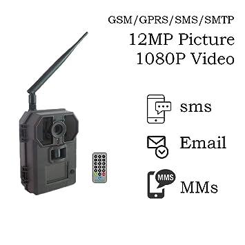 120 ° portátil GSM/MMS/SMTP/SMS vida silvestre caza cámara 12 MP