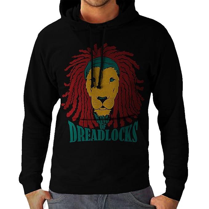 Wellcoda | Rasta León de judá hombre nuevo de Bob Marley Weed Rastafaian de Jamaica Kingston m core dopando canuto Marajuana Cush sudadera con capucha ...
