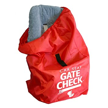 JL Childress Gate Check Bag For Car Seats Newborn And Above Red