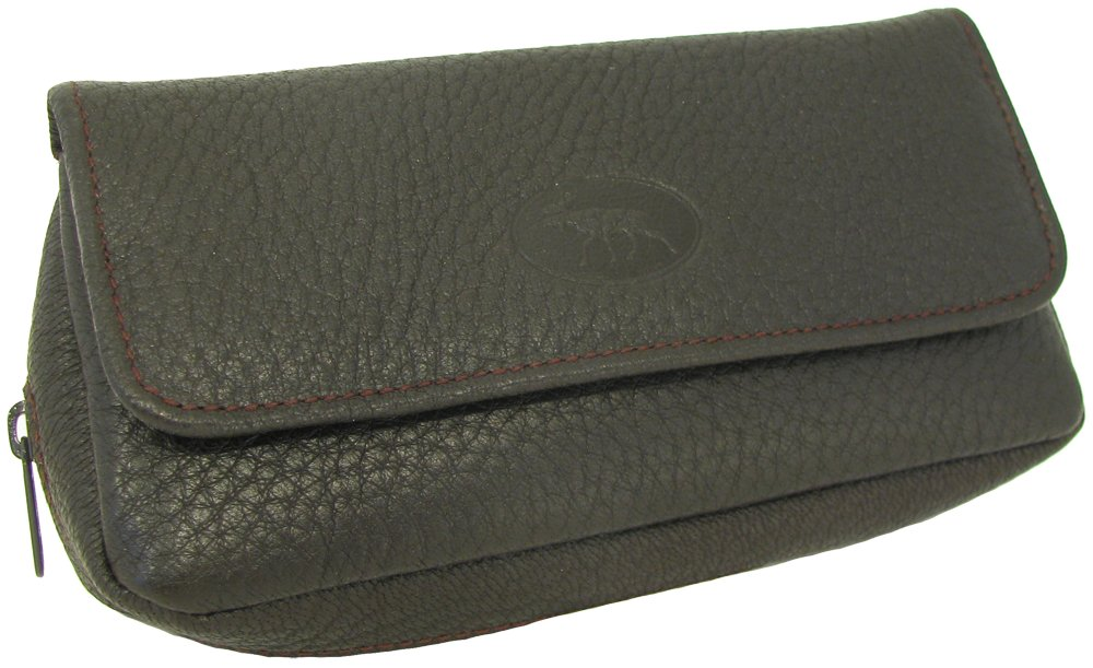 Martin Wess Germany ''Scandinavian Elk Leather'' Combo Tobacco Pouch Pipe Case