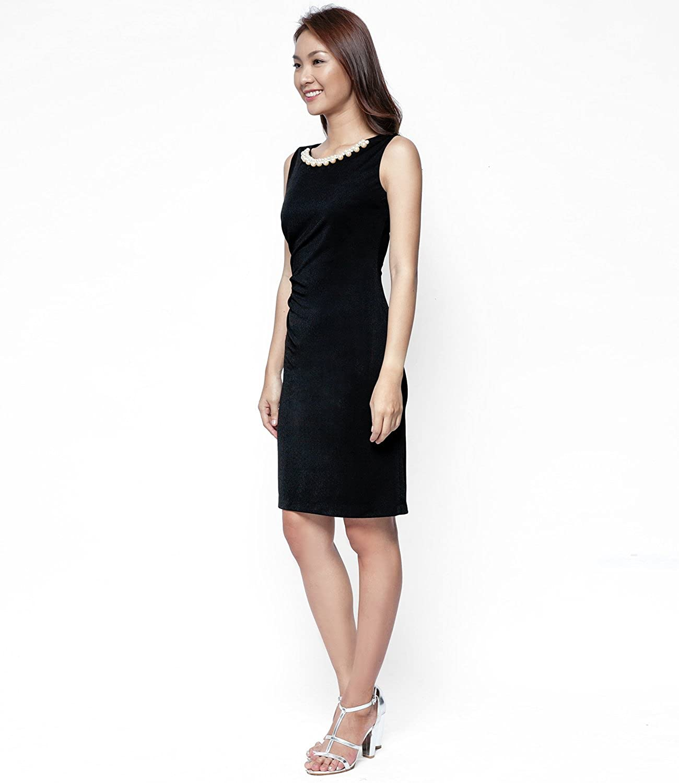 Cierra Sheath Dress Black - Eternal Coast