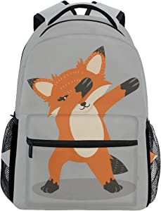 ALAZA Fox Dub Dancing Sign Fun Stylish Large Backpack Personalized Laptop iPad Tablet Travel School Bag with Multiple Pockets for Men Women College