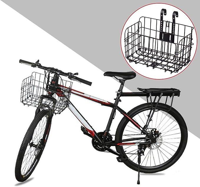Aluminum Bike Frame Basket Pet Carrier Frame Basket Bag WDEC Detachable Bicycle Bike Cycle Front Canvas Basket Pet Basket for Bike Bicycle Size is 34x24x24.5cm