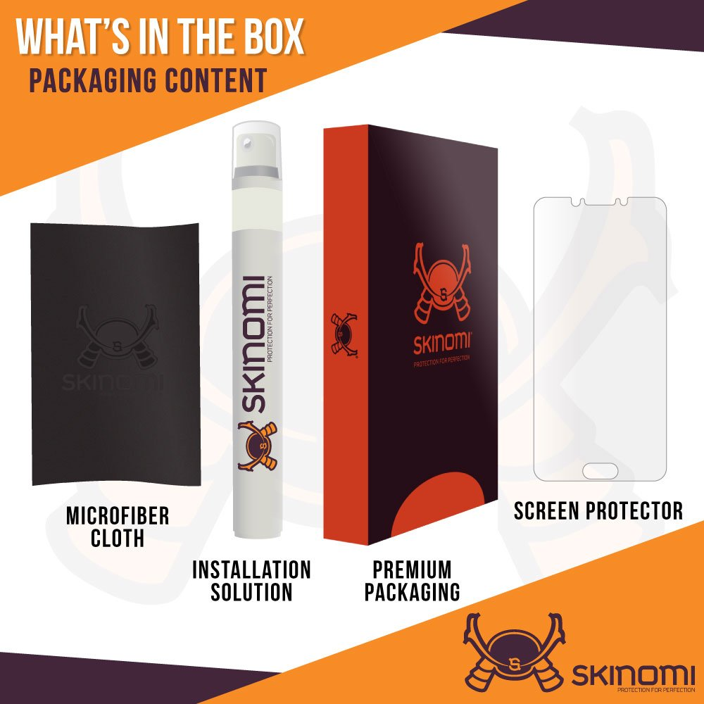 Amazon com: Samsung Galaxy C5 Pro Screen Protector , Skinomi