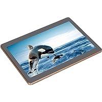 10.1 Pulgados HD Dual SIM Dual Standby Cámara Dual Bluetooth 4.0 Tablet ,4 + 64G Memoría 200W Pixel Quad Core HD IPS Pantalla Tableta Multifuncional para Android,Soporte Múltiples Idiomas(Negro EU)