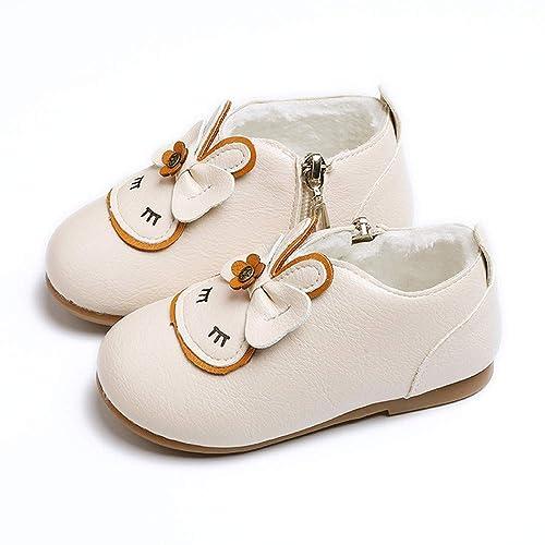 Botas Bebé Unisex de Nieve de Niñas Niños de Conejo de Dibujos Animados Zapatos de Bebé Más Engrosamiento de Terciopelo Botines Calentar Botas Infantiles ...
